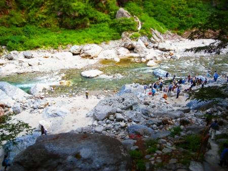 outdoor pursuit: Tateyama Kurobe the Canyon Suites ro  co train bell fishing mountain stream