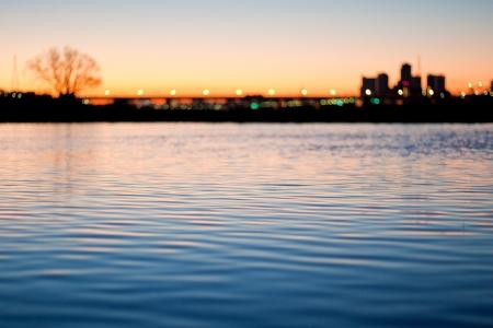 riverine: Water before dawn