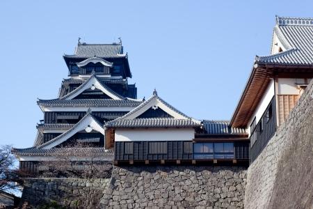 edifice: Castle tower of Kumamoto Castle