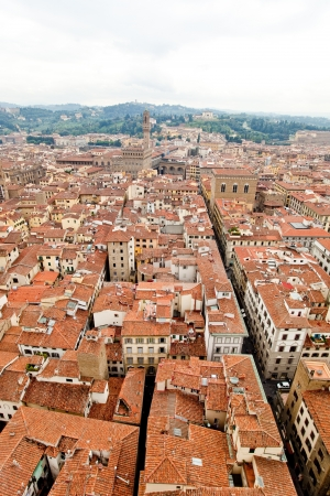 redbrick: Florence city as seen from the bell tower of Giotto Stock Photo
