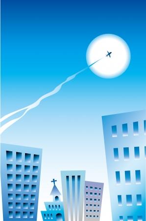 vapor trail: Street and flight cloud