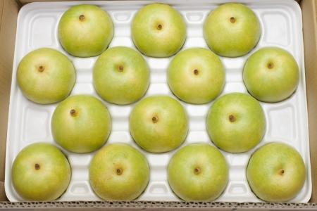 twentieth: Twentieth century pear-packed in a box