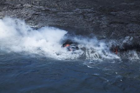 Ocean entry of Hawaii Island Kalapana photo
