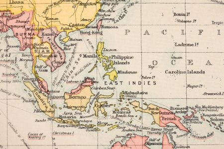 Old world map Southeast Asia photo