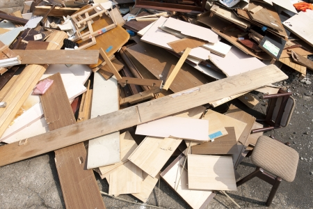 Construction scrap wood photo