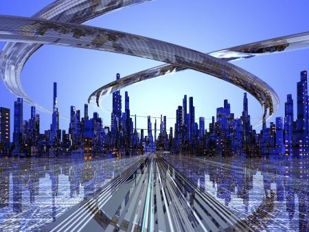 Future City Stock Photo