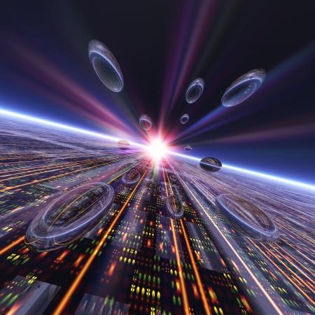 spaceport: Future image Stock Photo