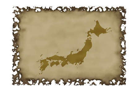 antiquity: Antiquity na Japan map Stock Photo
