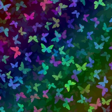 butterfly stroke: Pattern of colorful butterflies Stock Photo