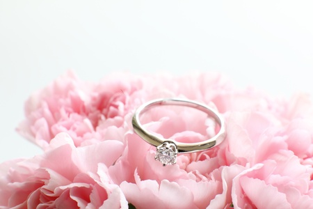 engagement ring: Engagement ring Stock Photo