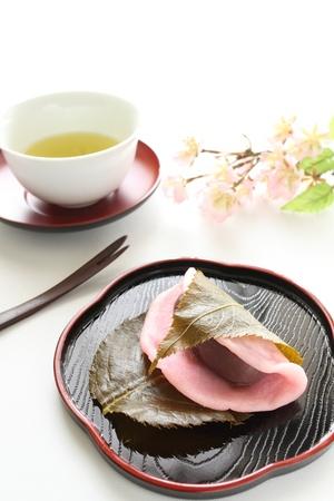 snack time: Snack time of sakura - mochi