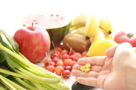 Vitamins and summer vegetables photo