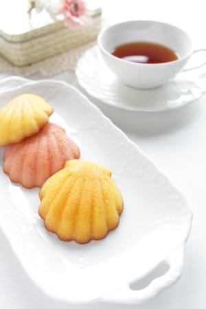 madeleine: Madeleine and herbal tea
