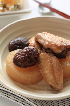 dikon: Los alimentos cocinados Foto de archivo