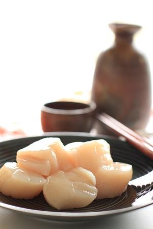 Sashimi scallop Stock Photo