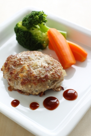 Hamburger steak photo