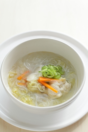 chicken soup: Chicken soup of vermicelli
