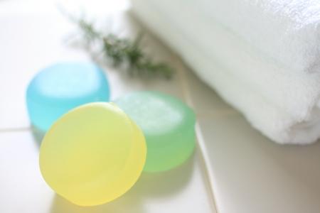 en suite: Herbal soap