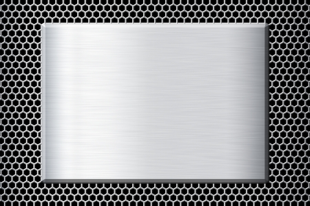 Metal plate Stock Photo - 23590483