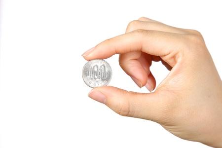 100 yen coin Stock Photo