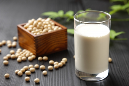 Soy milk Stock Photo