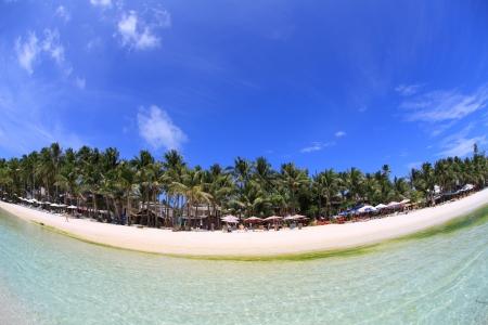 beach resort: Beach Resort en Boracay Foto de archivo