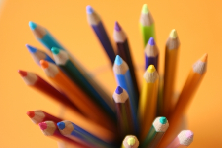 knack: Colored pencil Stock Photo