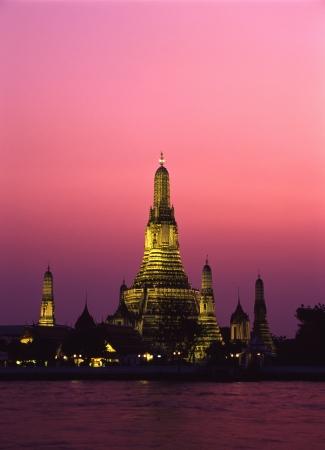 wat arun: Wat Arun sunset