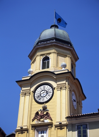 horologe: Clock tower of the city of Rijeka Koruzo street