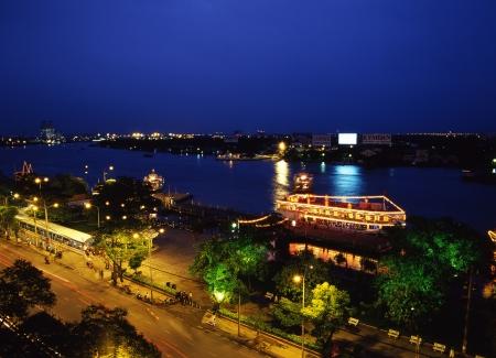 riverine: Saigon River at dusk