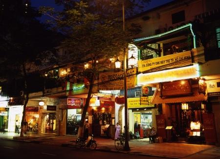 Dong Khoi Street at night photo