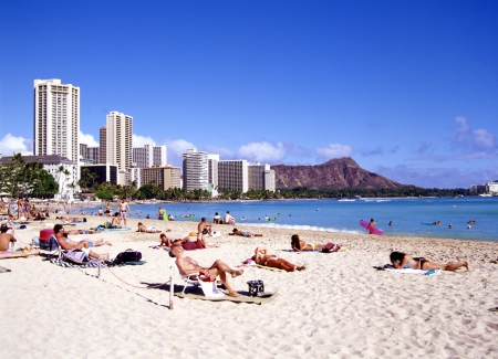 waikiki beach: Waikiki Beach