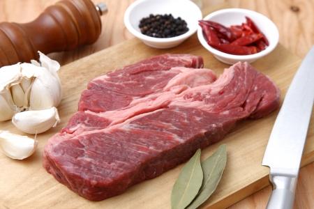 Preparing the steak photo