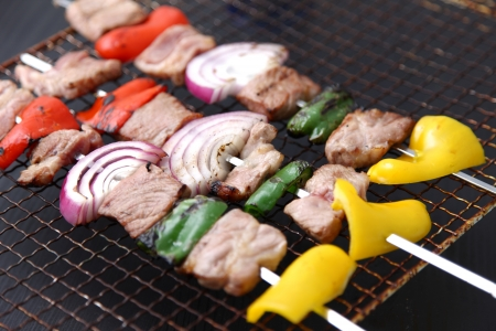 outdoor pursuit: Barbecue Stock Photo