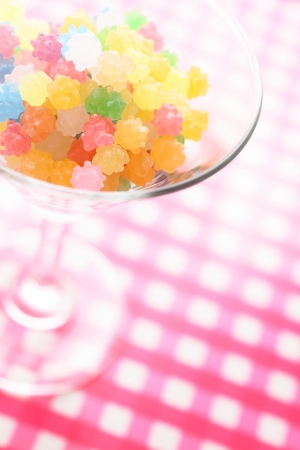 comfit: Candy cocktail glass