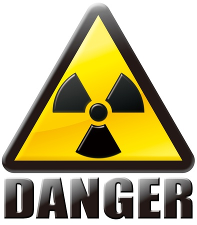 radiological: The Radiological Note ma  ku DANGER Stock Photo