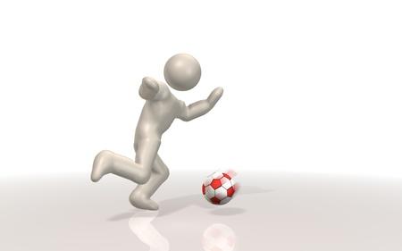 striker: Striker image Stock Photo