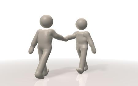 su: The handshake  post wa su two Full the  image ji Stock Photo