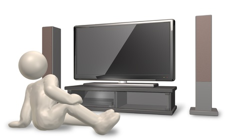 dvdr: CG image of a person watching TV