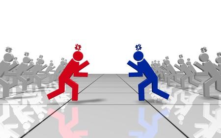 strife: CG immagine di un gruppo di due contrastanti