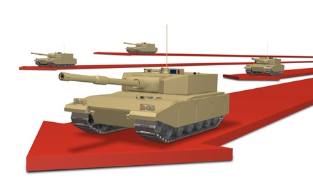gunfire: CG image representing the military invasion
