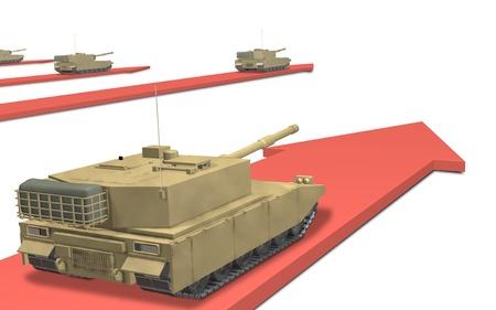 invasion: CG image representing the military invasion