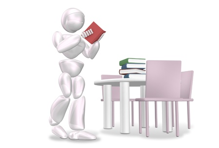 stowing: CG image representing the home reading Stock Photo
