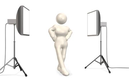 model pose: CG imagen que representa la actitud modelo
