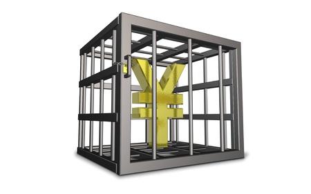 constraints: CG image representing the constraints of economic Stock Photo