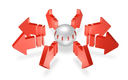 diffusion: 3DCG illustration that represents the diffusion Stock Photo