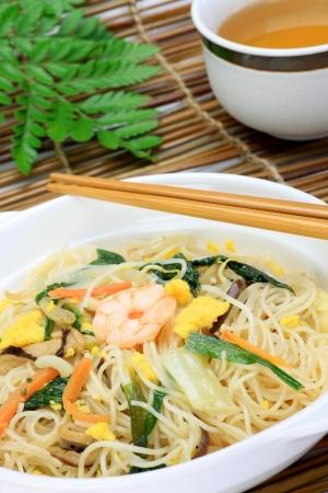 vermicelli: Fideos de arroz Foto de archivo