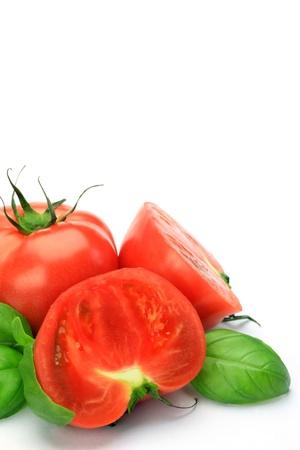Tomato and basil photo