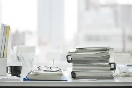office stationery: Office desk Stock Photo