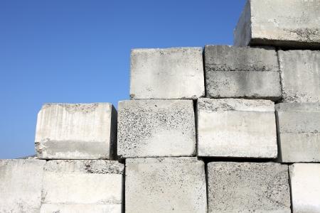 stowing: Concrete block Stock Photo